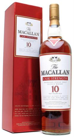 Macallan Sherry Oak Scotch Single Malt 10 Year Cask Strength
